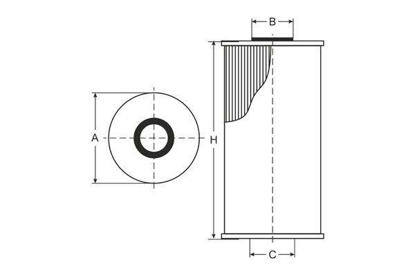 SH 4099 P Oil Filter SCT