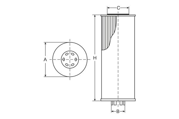 SH 4746 P Oil Filter SCT