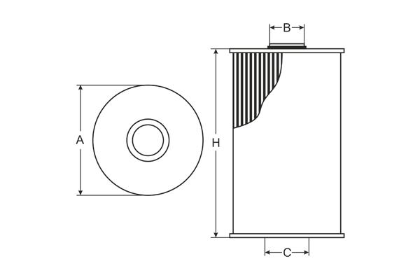 SH 4071 L Oil Filter SCT