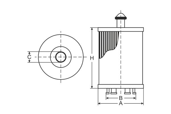SH 4066 P Oil Filter SCT