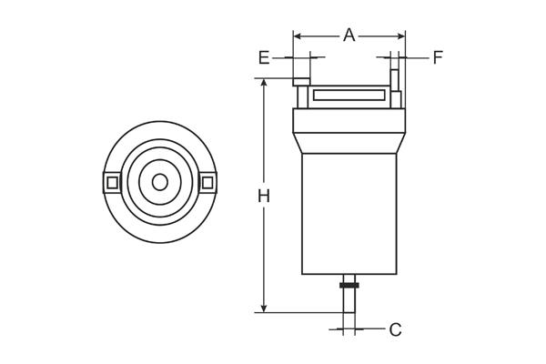 ST 6507 Fuel filter SCT