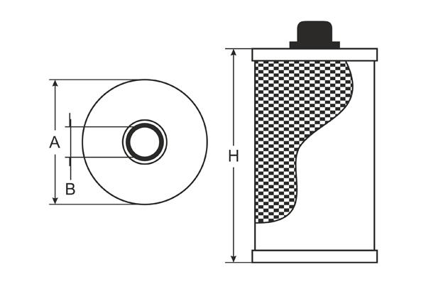 SH 4098 P Oil Filter SCT