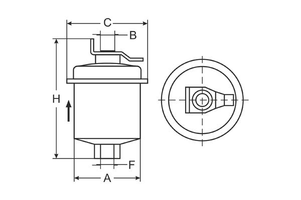 ST 346 Fuel filter SCT