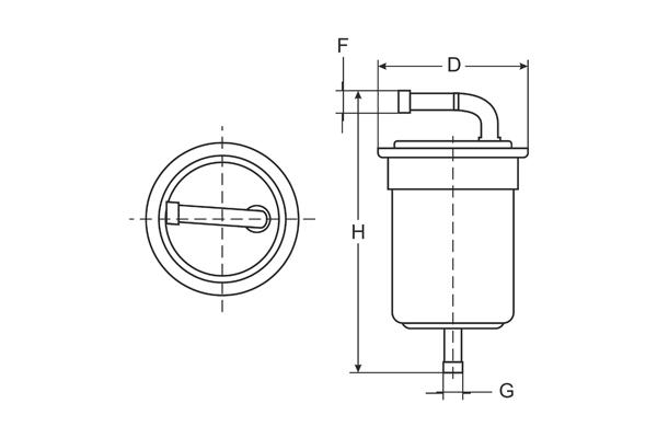 ST 6161 Fuel filter SCT