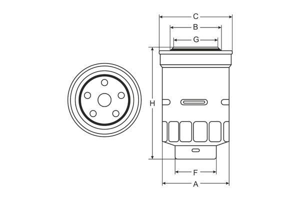 ST 306 Fuel filter SCT