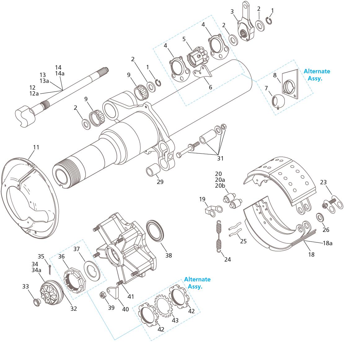 """Fruehauf Pro-Par TP 16.5"""" x 7"""" Brake"""