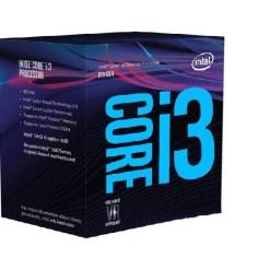 CPU Intel Core i3-8100 3.6Ghz / 6MB / 4 Cores, 4 Threads / Socket 1151 v2 (Coffee Lake)