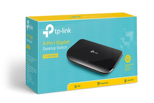 Switch TP-Link 8Ports TL- SG1008D