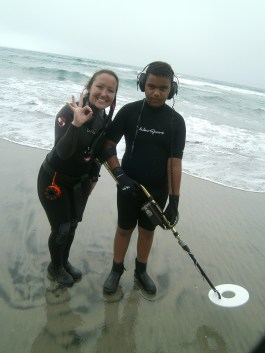 Kids join the search for silver on the wreck of the SS Monte Carlo