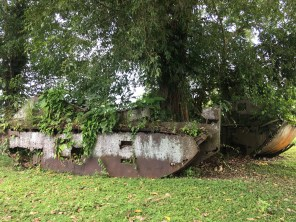 When operations ceased on Guadalcanal, American troops left behind dozens of tanks including these at Tetere Beach. (Image credit: Rebecca Strauss)