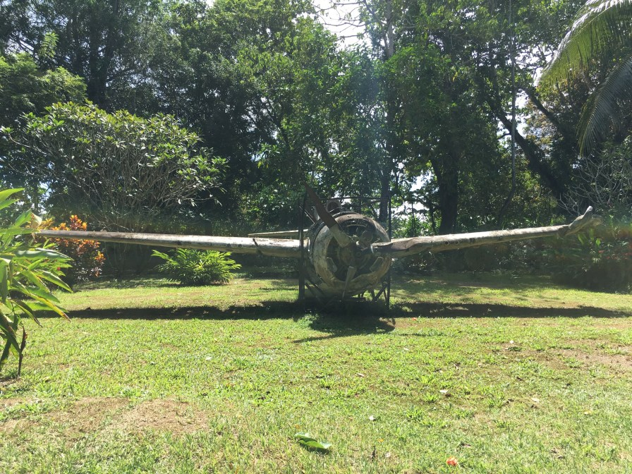 Lots of artifacts litter the grounds at the Vilu War Museum, including this remarkably intact aircraft. (Image credit: Rebecca Strauss)