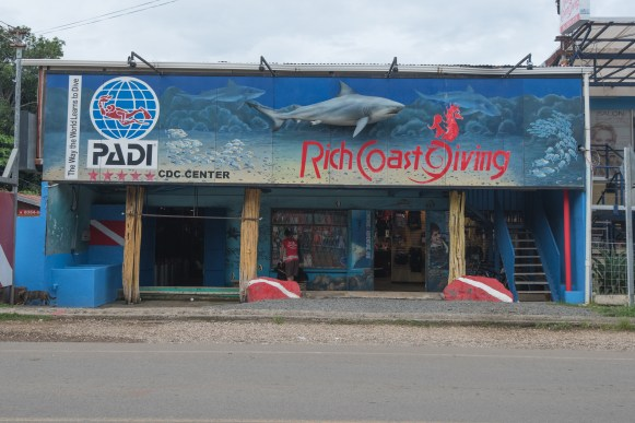Rich Coast Diving sits on Playas del Cocos' main street and is the only PADI Five-Star CDC in Costa Rica