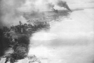 Kavieng under attack