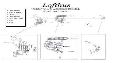 The Lofthus site plan (Photo courtesy Florida Division of Historical Resources).