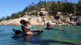 Lorie's first ever scuba dive at Magnetic Island, Papua New Guinea
