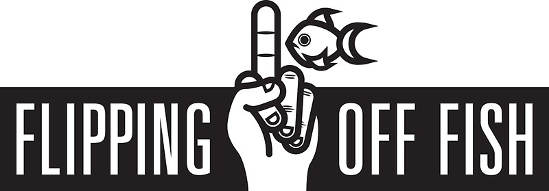 Buy a Flipping Off Fish sticker and become an official fish flipper.