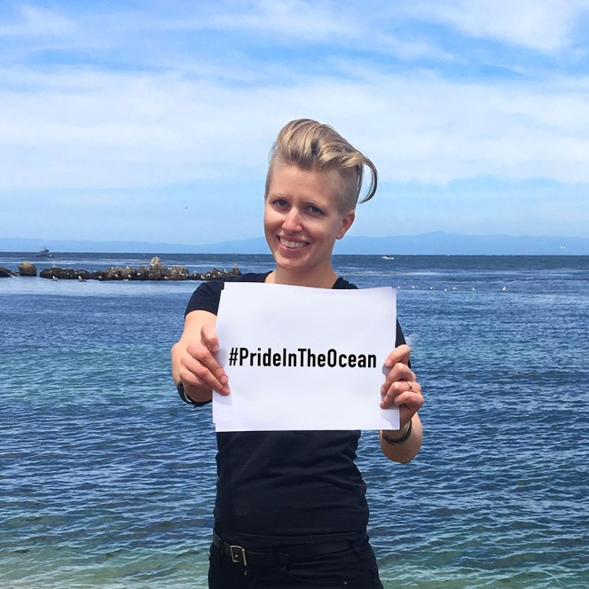 My name is Liz Weinberg, and I have #PrideInTheOcean. As the social-media coordinator for NOAA's Office of National Marine Sanctuaries, I work to bring information about the National Marine Sanctuary System to people all over the world. As a queer woman, I want to make sure that EVERYONE has access to and feels welcome in these amazing places. Photo credit: Leslie Mowrer