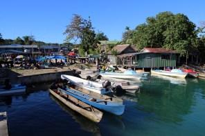 Boats at Munda market