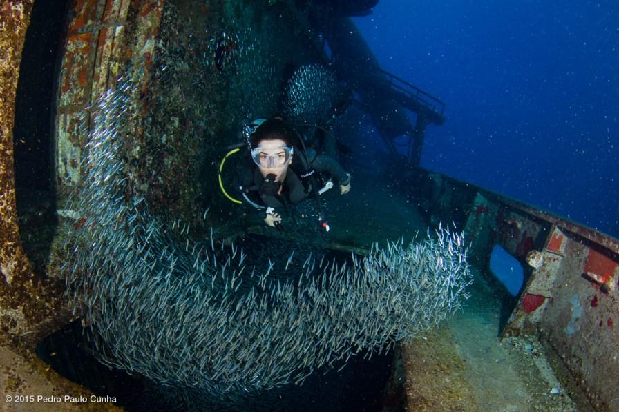 USS Kittiwake Wreck photo by Pedro Paulo Cunha under CC License