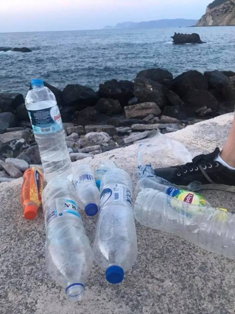 Plastic on Skopelps Island Greece