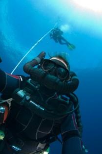 Jill Heinerth off Cabo San Lucas during rebreather testing. (Courtesy of Jill Heinerth)