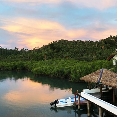 The resort is located on the bay in a certified protected marine area. (Courtesy Edgewater Dive and Spa Resort)