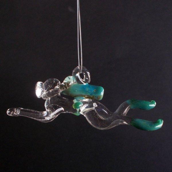 Glass Scuba Diver Ornament