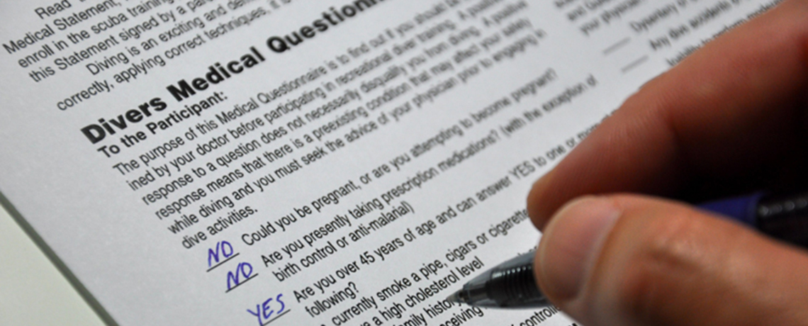How to Fill Out the Scuba Medical History Questionnaire