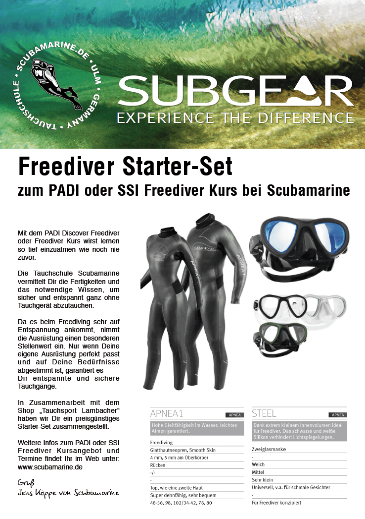 Freediver-Starter-Set