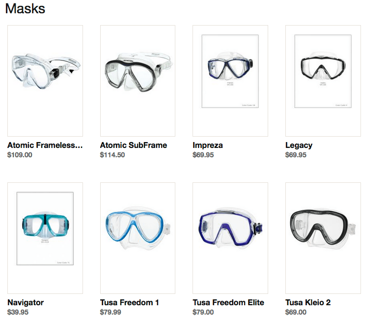 Shop Online Dive Mask|Scuba Outfitters|Naples, FL