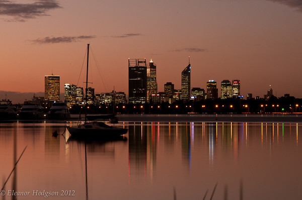 Perth Skyline at dusk