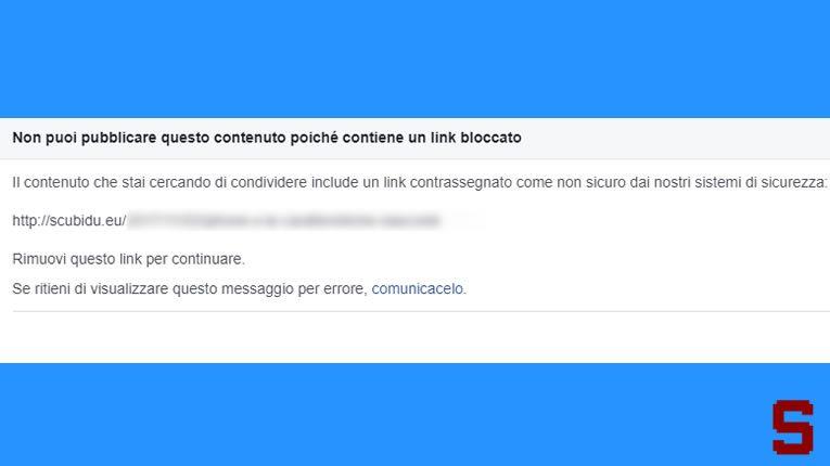 Facebook | Cosa fare se Facebook blocca i link del blog