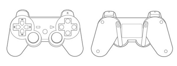 Playstation 1 Controller Drawing >> Hasshe.Com