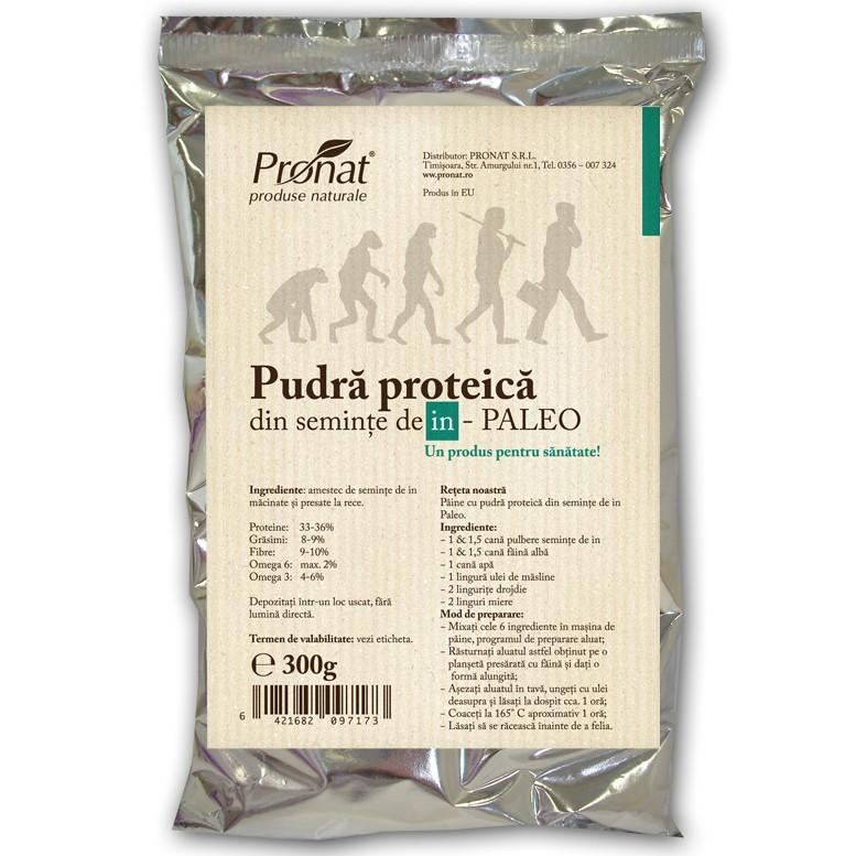 Pudra proteica din semințe de in PALEO,  300 g