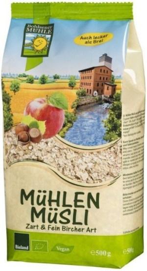 Bohlsener Muhle – Musli Bio macinat fin cu mere si alune, 500g