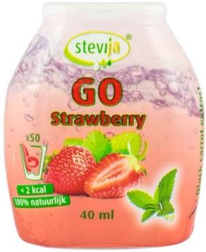 SteviJa GO -  Indulcitor pe baza de stevie cu aroma de capsuni, 40ml