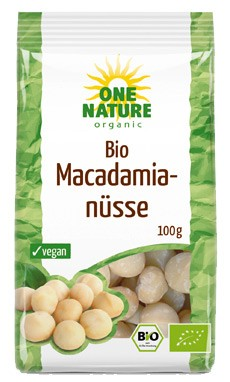ONE NATURE - Nuci de macadamia bio, 100g