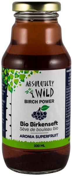 Absolutely Wild - Seva BIO de mesteacan cu aronia, 330ml