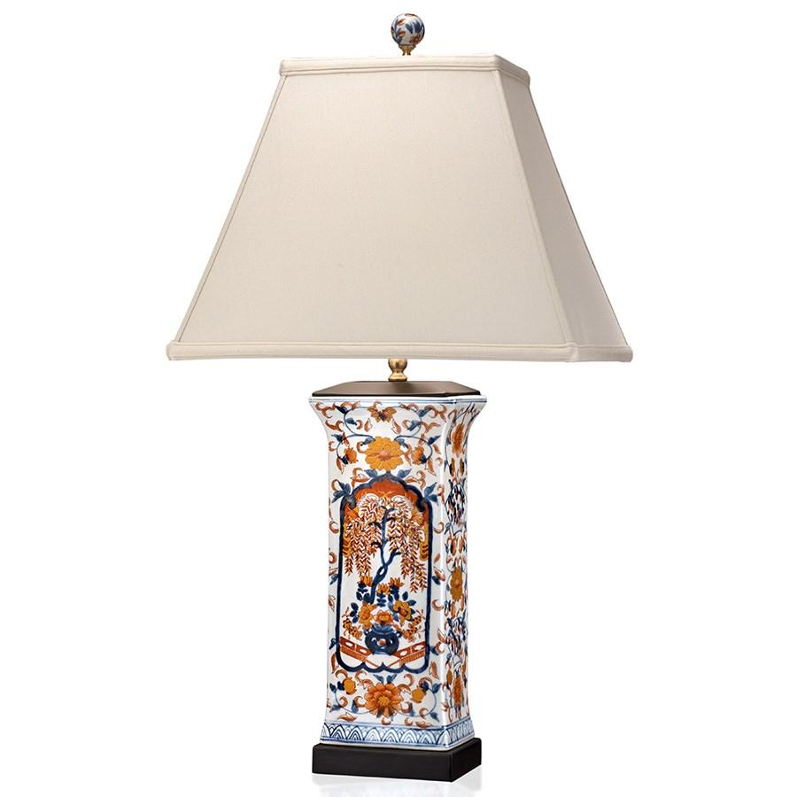 Imari porcelain table lamp