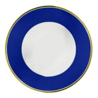 Porcelain Dinnerware Set, Royal Blue and Gold | More China ...