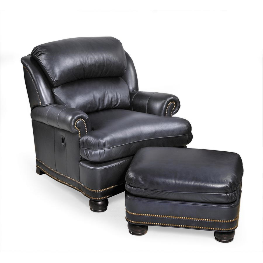 Leather Chair And Ottoman Trafalgar Tiltback Chair Ottoman Leather Furniture Seating