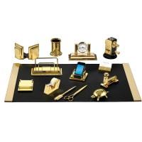 Desk Set 23k Goldplate | Desk Sets | Office Accessories ...