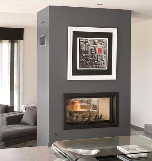 Axis H1600XXL DS Largest Double Sided Fire  Sculpt Fireplace Collec