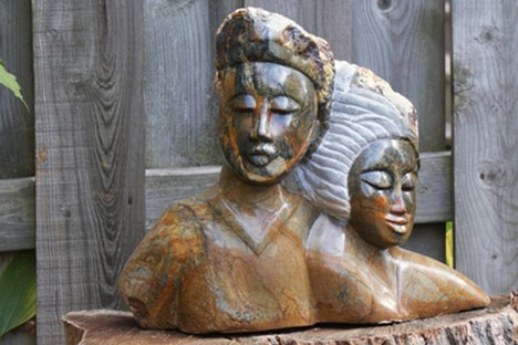 Shy couple 3 sculpture