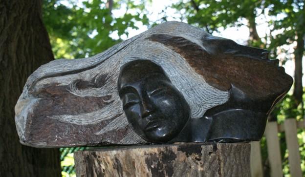 Sun and moon sculpture