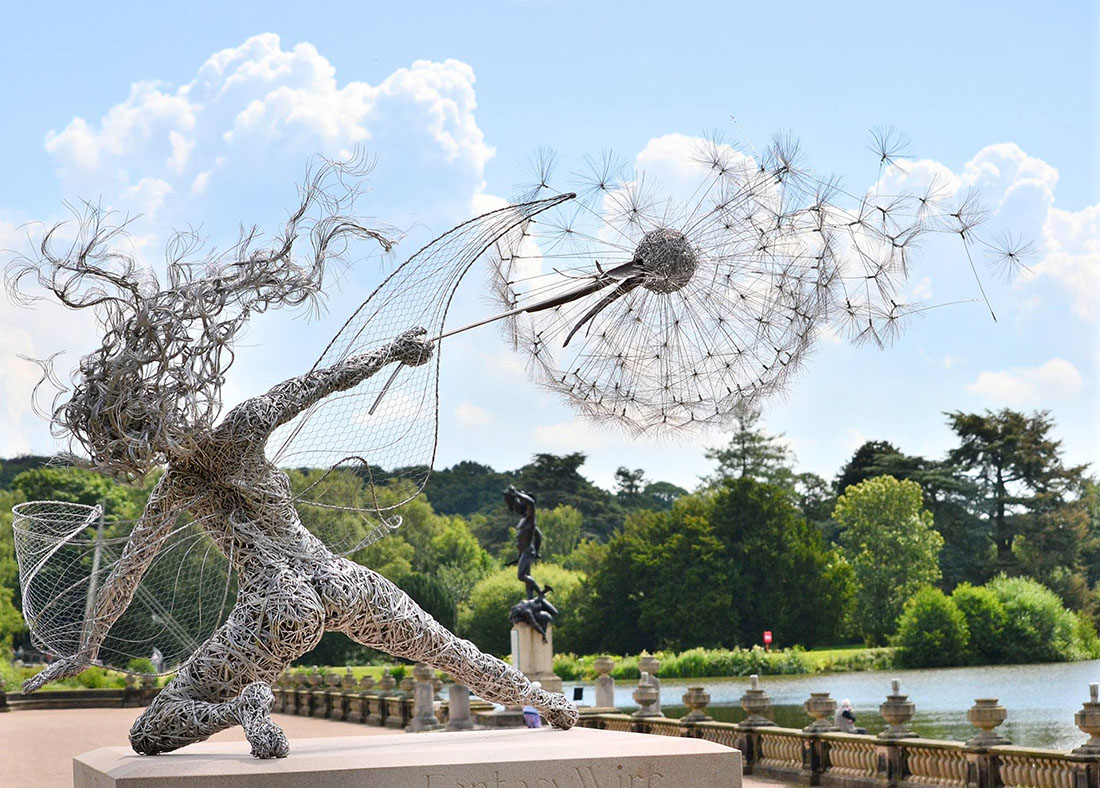 Wire Fairy Sculpture by Robin Wight