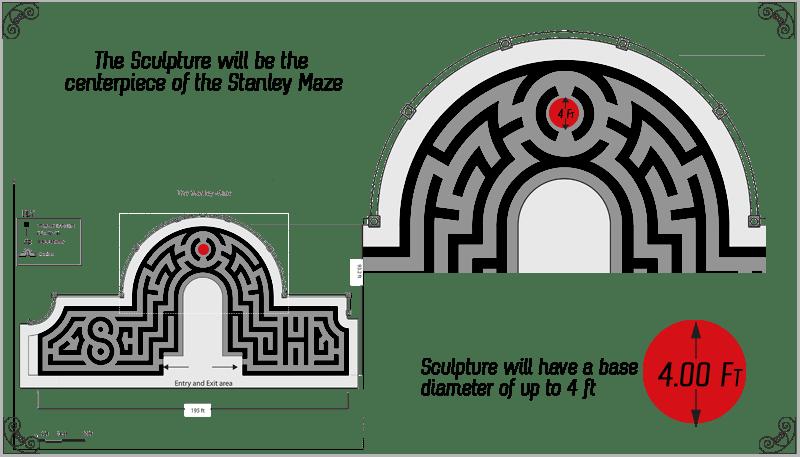 Stanley Hotel maze graphic