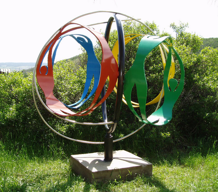 Wellness Globe metal sculpture 2014 collection photo credit: Douglas County Government Sculptor: Ivan Kosta