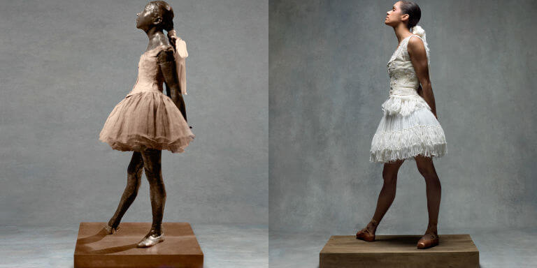 Copeland as Degas's Little Dancer Aged Fourteen