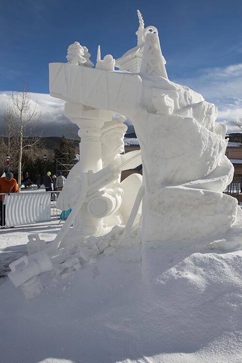 "Team Breckenridge, People's Choice Award ""The Widow Maker"" Breckenridge International Snow Sculpture Championships"
